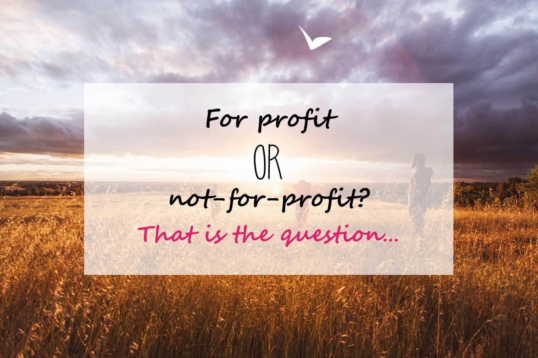 For profit or not-for-profit, a key question for social entrepreneurs