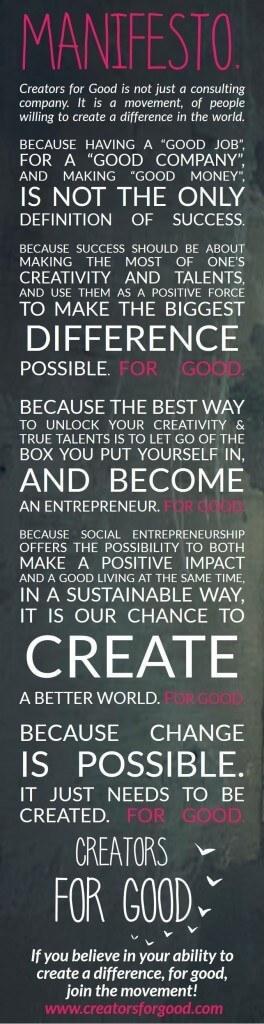 manifesto creators for good