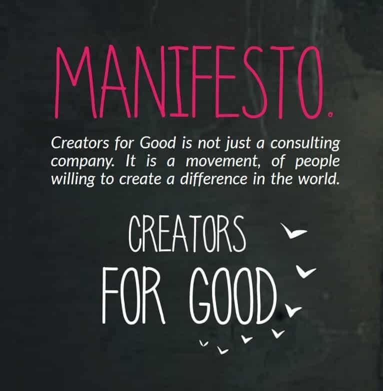 Creators for Good's manifesto