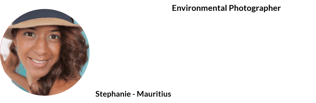 from marketing to environmental photography - Stephanie