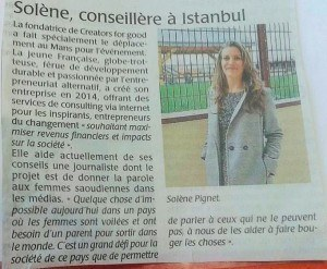French review of the press for Solene at SenseCamp 2