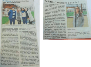 French review of the press for Solene at SenseCamp