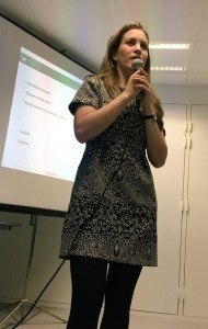 Solene speaking at SenseCamp Le Mans