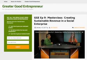 Greater good entrepreneur