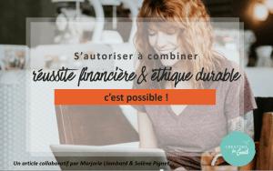 reussite financière et éthique durable - Creators for Good