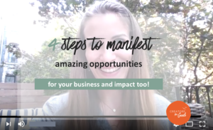How to manifest incredible opportunities