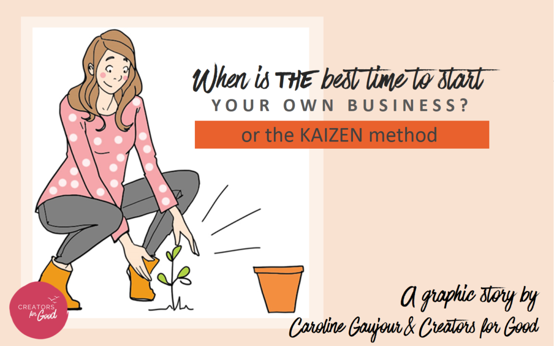 [ graphic story ] When is *THE* best time to start your own business (or the Kaizen method) ?